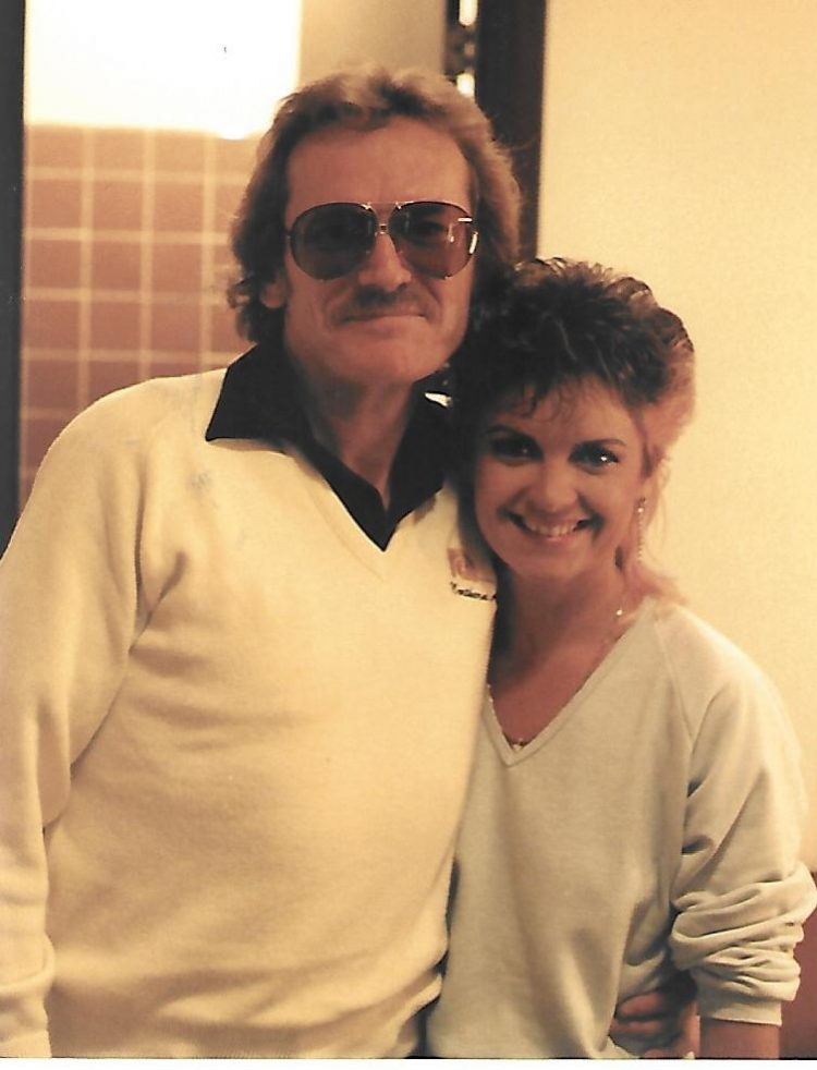 Kelita, backstage with Gordon Lightfoot