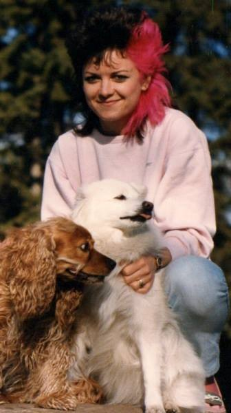 Kelita with her dogs