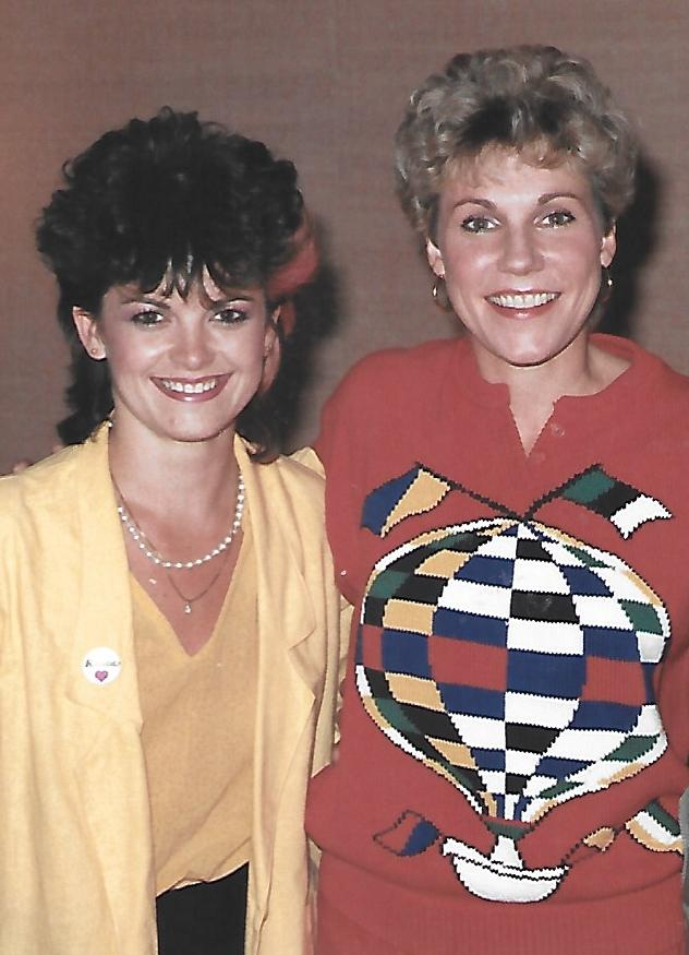 Kelita, backstage with Anne Murray